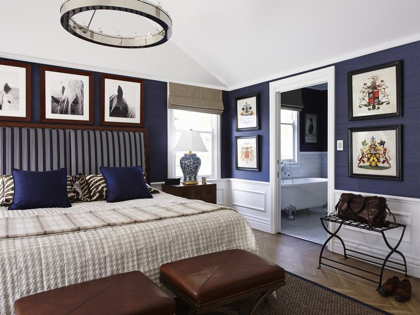 Favorite Blue Rooms With Bold Color Part 2 Patterson