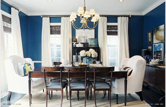favorite blue rooms with bold color - part 1 - patterson