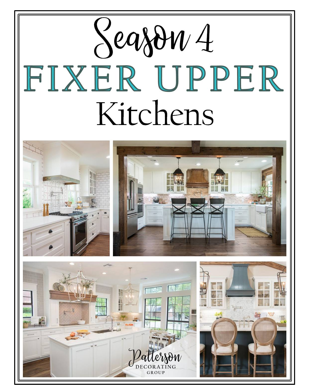 fixer upper kitchens season 4 patterson decorating group drapes and design blog. Black Bedroom Furniture Sets. Home Design Ideas