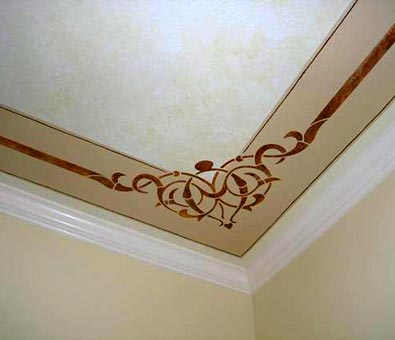 Faux finishing decorative painting and murals for Ceiling mural painting techniques